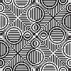 Vector clipart: monochromatic circles stripy pattern [Converted]